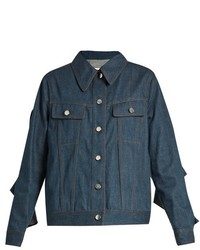 Maison Margiela Mm6 By Ruffled Sleeve Denim Jacket