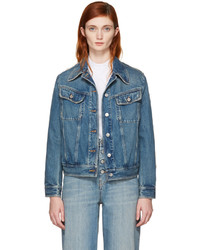 Maison Margiela Mm6 Maison Martin Margiela Blue Denim Frayed Back Detail Jacket
