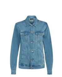 New Look Blue Acid Wash Oversized Denim Jacket