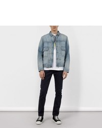 Paul Smith Light Wash Embroidered Denim Jacket