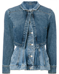 Peplum denim jacket medium 4016038