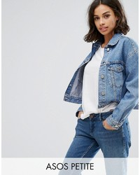 Asos Petite Petite Denim Jacket In Midwash Blue