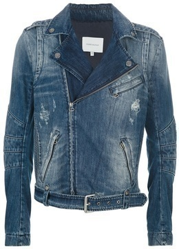 Balmain Pierre Denim Biker Jacket