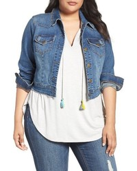 Melissa McCarthy Plus Size Seven7 Crop Denim Jacket