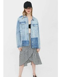 Mango Rips Oversize Denim Jacket