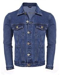 COOFANDY Rugged Wear Unlined Jean Denim Jacket