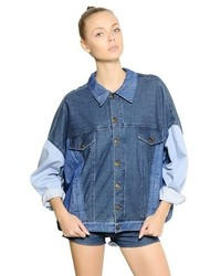 Sansovino 6 Oversized Patchwork Cotton Denim Jacket