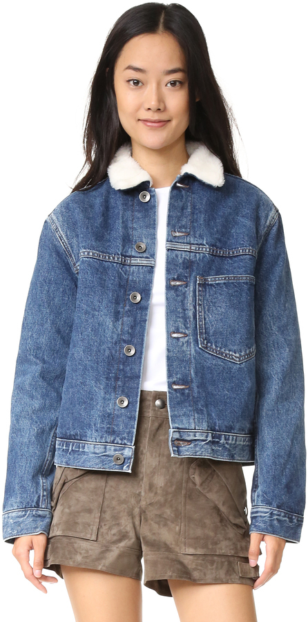 Helmut Lang Short Sherpa Denim Jacket Where To Buy How To Wear