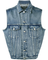 Sleeveless denim jacket medium 5143726