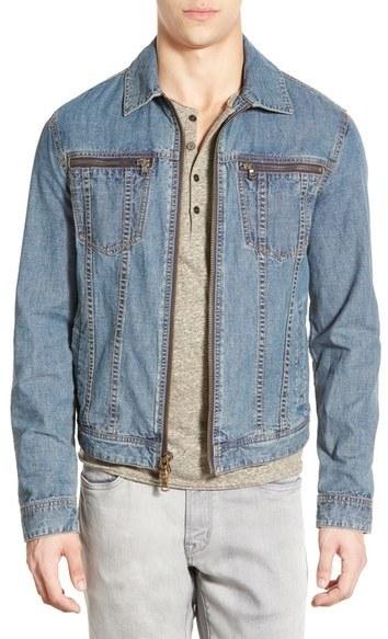 John Varvatos Star Usa Zip Front Denim Jacket Where To Buy How