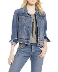 The baby crop denim trucker jacket medium 8711426