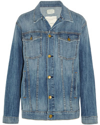 Current/Elliott The Trucker Oversized Stretch Denim Jacket
