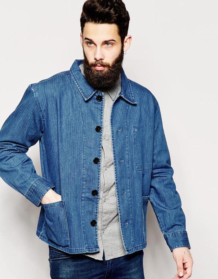 6358512a2900d ... WÅVEN Waven Denim Jacket Kettle Workwear Bright Blue ...