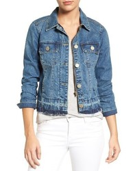 Wit wisdom release hem denim jacket medium 5388566