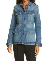Nili Lotan Wren Distressed Denim Jacket