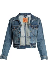 Vetements X Levis Reworked Cropped Denim Jacket