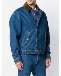 AMI Alexandre Mattiussi Zipped Denim Jacket