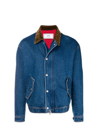 AMI Alexandre Mattiussi Zipped Denim Jacket