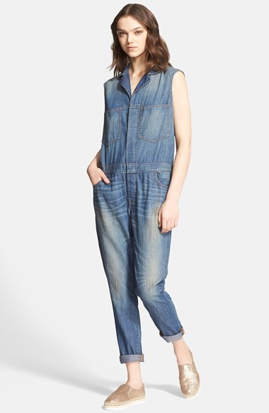 sleeveless denim jumpsuit baggage clothing