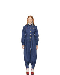 Gucci Blue Denim Jumpsuit