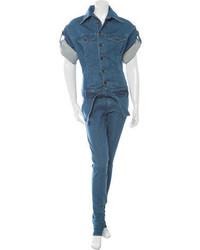 Diesel Short Sleeve Denim Jumpsuit W Tags