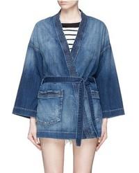 Current/Elliott Denim Kimono Jacket