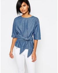 Vero Moda Denim Kimono Sleeve Top