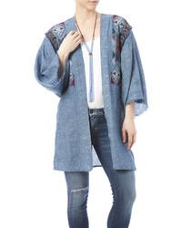 Eota embroidered denim kimono medium 535562