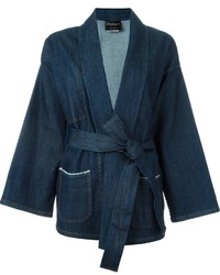 Erika Cavallini Gagan Kimono Wrap Denim Jacket
