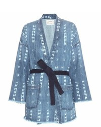 Current/Elliott The Kimono Printed Denim Jacket