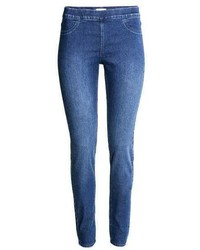 Blue Denim Leggings