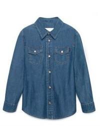 Gucci Boys Denim Long Sleeve Shirt