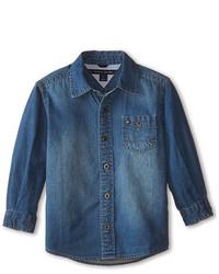 Tommy Hilfiger Kids Long Sleeve Woven Max Denim Shirt
