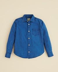 Rose Pistol Boys La Jolla Denim Button Down Shirt Sizes 8 14