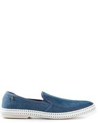 Rivieras Denim Slip On Shoes