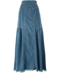 Chloé Maxi Denim Skirt
