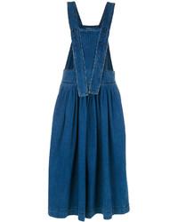 Chloé Denim Pinafore Midi Dress