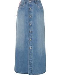 Miu Miu Denim Midi Skirt