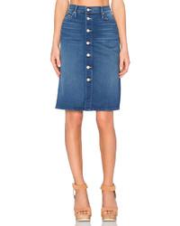Mother High Waist Button Midi Skirt