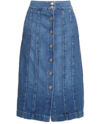 Le panel midi denim skirt medium 800210