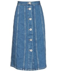 Mih jeans simone button down denim skirt medium 800207