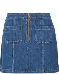 Denim mini skirt blue medium 3700737