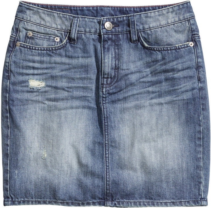H&M Denim Skirt Denim Blue Ladies | Where to buy & how to wear