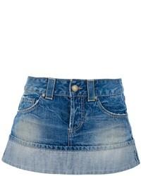 Dondup Stonewashed Mini Denim Skirt