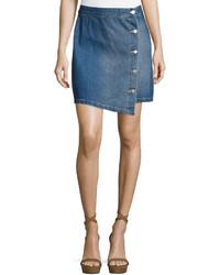 MinkPink Mink Pink Got The Blues Denim A Line Mini Skirt Medium Blue