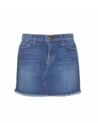 Current/Elliott Mytheresacom The Cut Off Denim Miniskirt