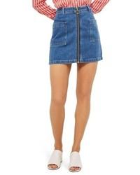 Patch pocket a line denim miniskirt medium 5257037