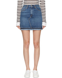 Rag & Bone Rag And Bone Blue Denim Dive Miniskirt