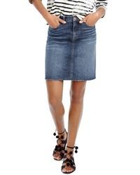 J.Crew Raw Hem Denim Miniskirt