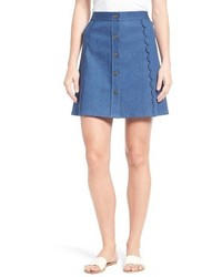 Stretch denim miniskirt medium 3742487